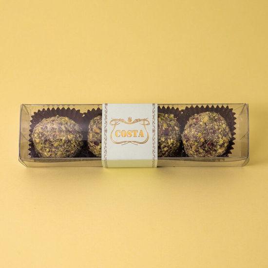 Immagine di Tartufini al cioccolato e pistacchio