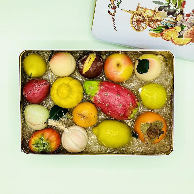 Immagine di Confezione in latta Frutta Martorana 1,2 Kg